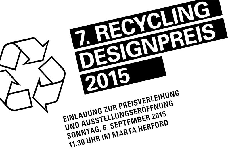 Recycling Designpreis 2015